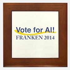 Vote for Al Franken 2014 Framed Tile