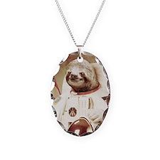 Astronaut Slot Necklace Oval Charm
