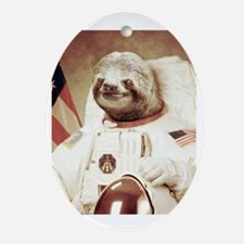 Astronaut Slot Oval Ornament