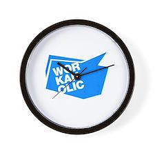 workaholic blue Wall Clock