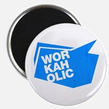 workaholic blue Magnets