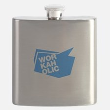workaholic blue Flask