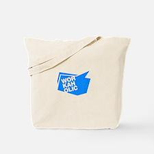workaholic blue Tote Bag