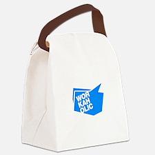 workaholic blue Canvas Lunch Bag