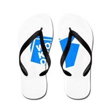 workaholic blue Flip Flops