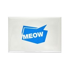 meow blue Magnets