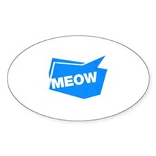 meow blue Decal