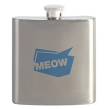 meow blue Flask