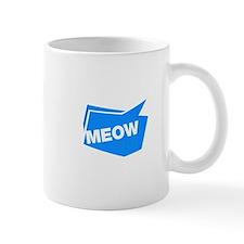 meow blue Mugs
