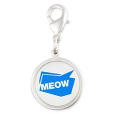 meow blue Charms