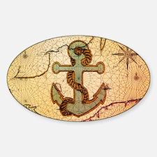 natical anchor vintage voyage  Decal