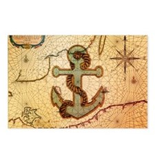 natical anchor vintage vo Postcards (Package of 8)