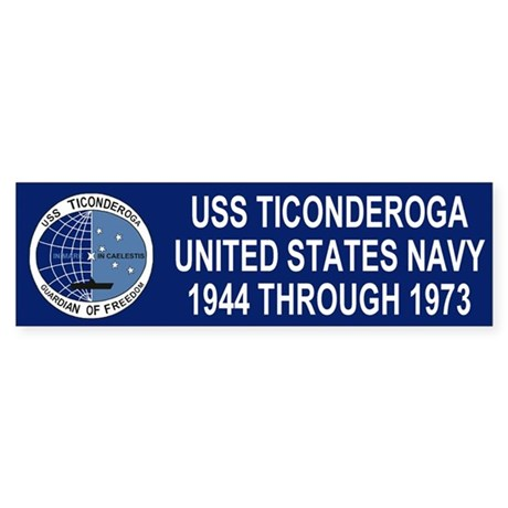 USS TICONDEROGA <BR>Bumper Sticker