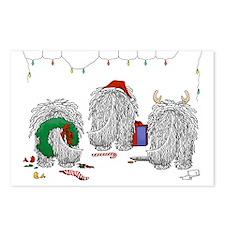 Komondor Christmas Postcards (Package of 8)