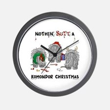 Komondor Christmas Wall Clock