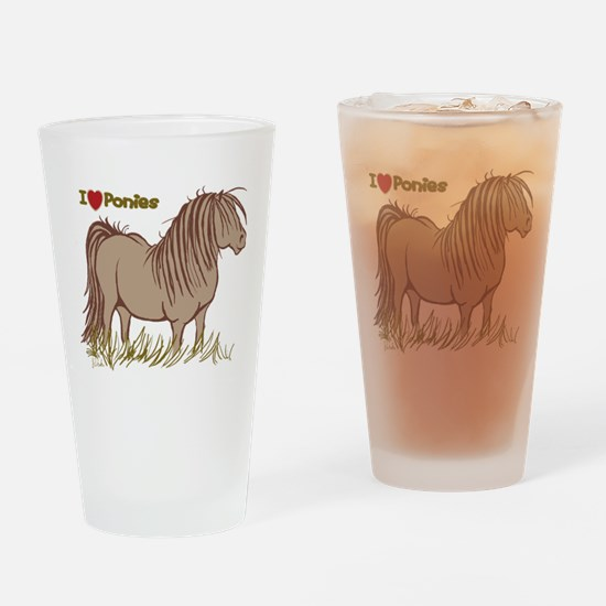 LovePonies1.png Drinking Glass