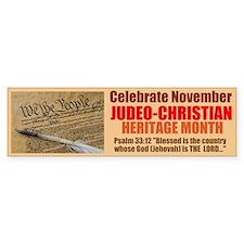 Heritage Month Bumper Sticker