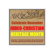 "Heritage Month Square Sticker 3"" x 3"""