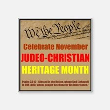 "Heritage Month Square Sticker 3"" x 3"""