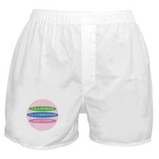 Im a Woman, Im a Democrat, and I Vote! Boxer Short