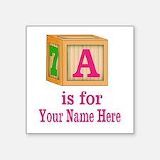 Custom Pink Block Sticker