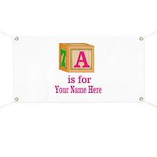Custom Pink Block Banner