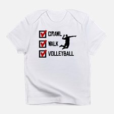 Crawl Walk Volleyball Infant T-Shirt