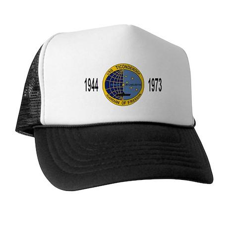Black USS TICONDEROGA Mesh Cap