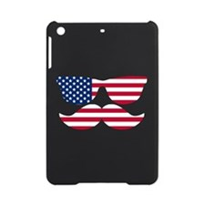 American Flag Mustache Face iPad Mini Case