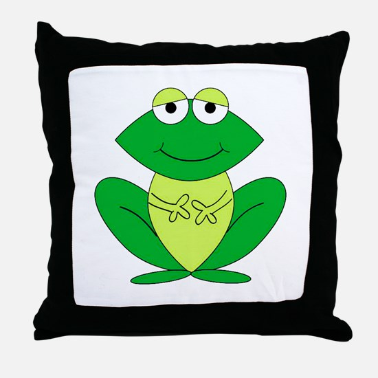 Cartoon Frog Throw Pillow