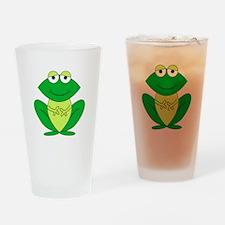 Cartoon Frog Drinking Glass