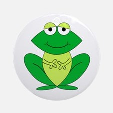 Cartoon Frog Ornament (Round)