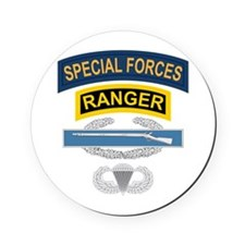 SF Ranger CIB Airborne Cork Coaster