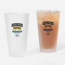 SF Ranger CIB Airborne Drinking Glass