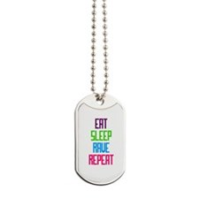 Eat Sleep Rave Repeat Dog Tags