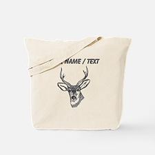 Custom Stag Sketch Tote Bag