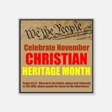"HERITAGE MONTH 2 Square Sticker 3"" x 3"""
