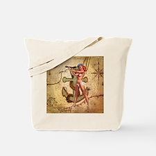 nautical  beach girl Tote Bag