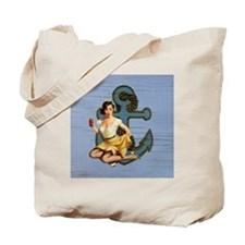nautical beach girl Tote Bag