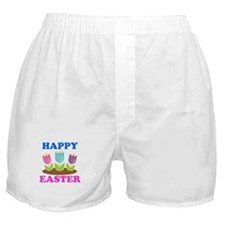 Easter Flowers Happy Easter Boxer Shorts