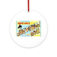 Cheyenne Wyoming Greetings Ornament (Round)