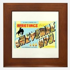 Cheyenne Wyoming Greetings Framed Tile