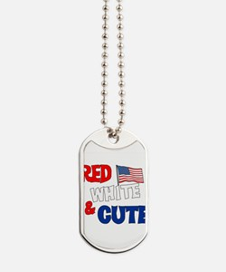 red white cute.png Dog Tags