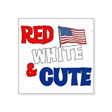 red white cute.png Sticker