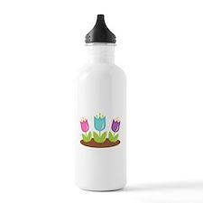 Easter Flowers Sports Water Bottle