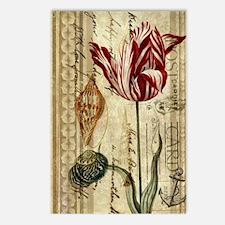 vintage tulip botanical a Postcards (Package of 8)