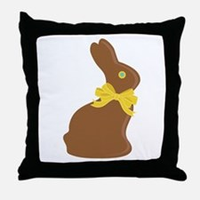 Chocolate Bunny Throw Pillow