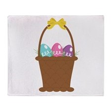 Easter Basket Throw Blanket