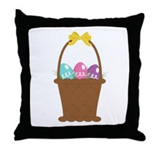 Easter Basket Throw Pillow