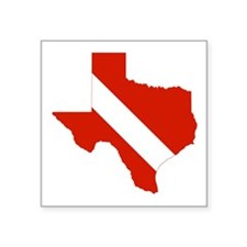 "Texas Diver Square Sticker 3"" x 3"""